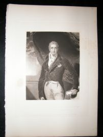 Aft Thomas Lawrence 1843 Mezz. Viscount Castlereagh, Marques Londonderry